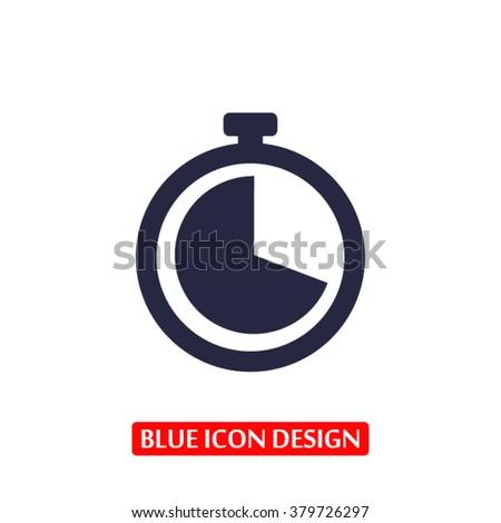 Clock Icon, clock icon flat, clock icon picture, clock icon vect - stock vector