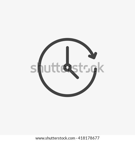 Clock Icon in trendy flat style isolated on grey background. Time symbol for your web site design, logo, app, UI. Vector illustration, EPS10. - stock vector