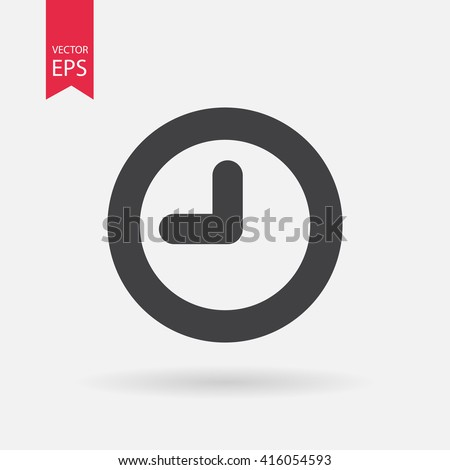 Clock icon vector.  Clock logo flat design style. Isolated on white background. Vector illustration - stock vector