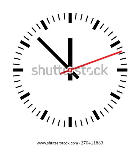 Clock Illustration - stock vector