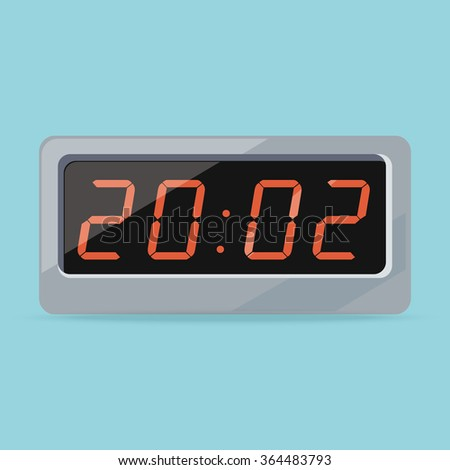 Clock logo isolated. Watch object, time office symbol. Clock flat icon. Time logo. Watch logo. Clock logo. World time. Clock icon. Table clock. Electronic watch. Timer clock isolated. Clock silhouette - stock vector