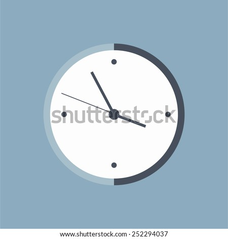 clock or watch or time vector icon - stock vector