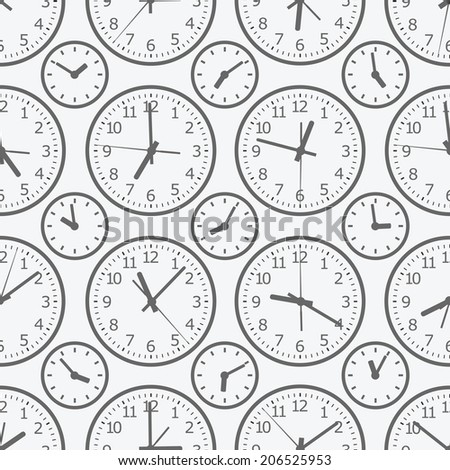 clock seamless pattern. The electronic device. - stock vector
