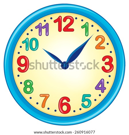 Clock theme image 3 - eps10 vector illustration. - stock vector