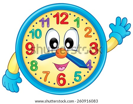 Clock theme image 6 - eps10 vector illustration. - stock vector