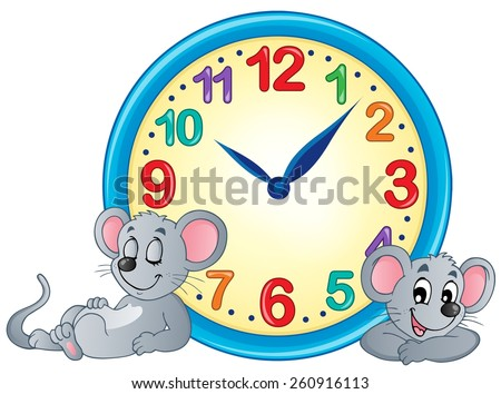 Clock theme image 4 - eps10 vector illustration. - stock vector