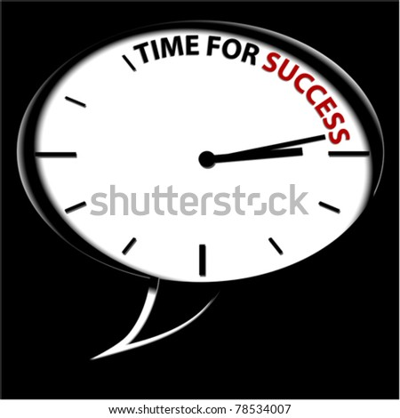 "Clock ""Time for success"" - stock vector"