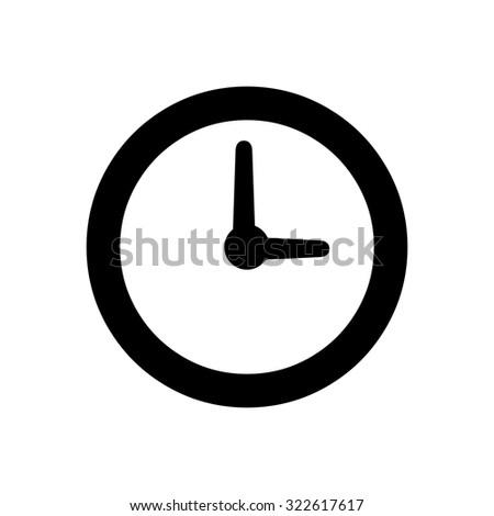 Clock time icon - stock vector