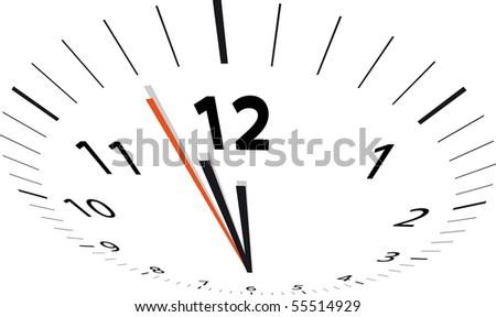 clock 5 to 12 - stock vector