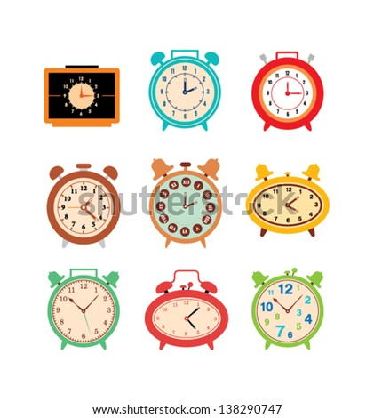 clock vector - stock vector