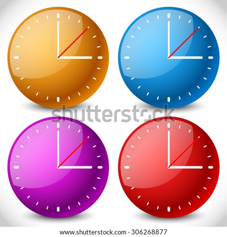 Clock vector icon for time, appointment, accuracy concepts. - stock vector