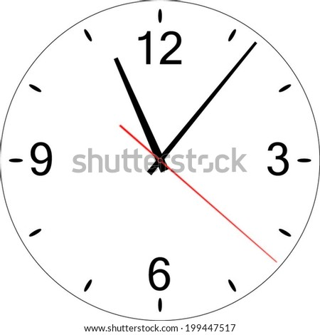 Clock, Vector Illustration - stock vector