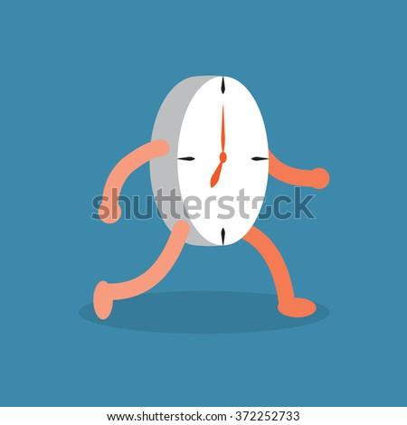 Clock walking. - stock vector