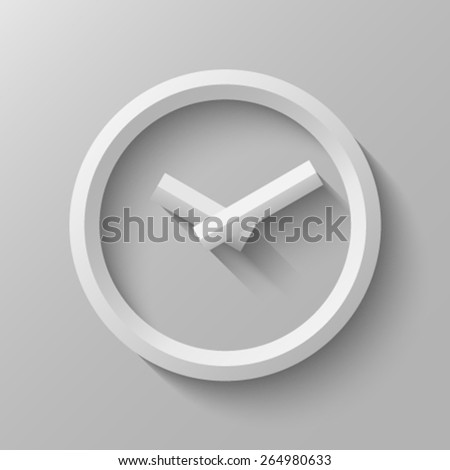 Clock with bevel - stock vector