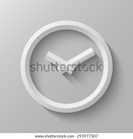 Clock with bevel, second version. - stock vector