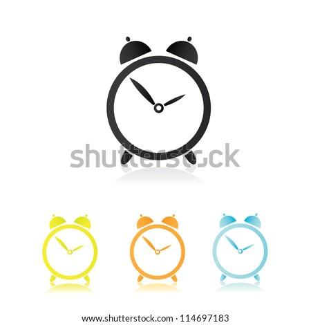 Clocks Icons set - stock vector
