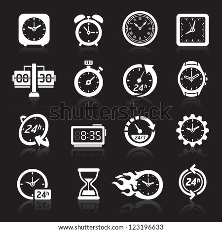 Clocks icons. Vector illustration - stock vector