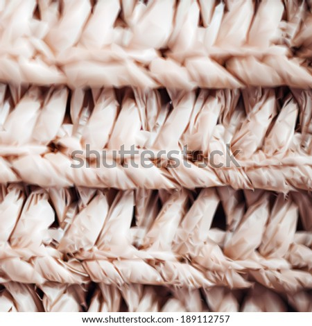 Close up of a vintage wicker texture. Vector - stock vector