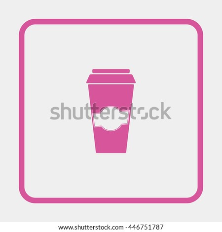 Close up take-out coffee. - stock vector