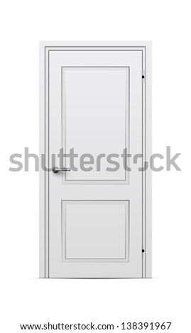 Closed door - stock vector