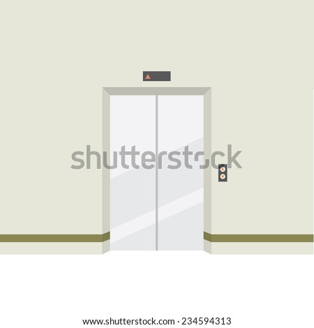Closed Doors Elevator Vector Illustration - stock vector