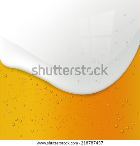 Closeup of beer background - stock vector