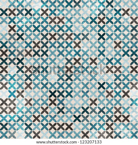 cloth blue seamless pattern - stock vector