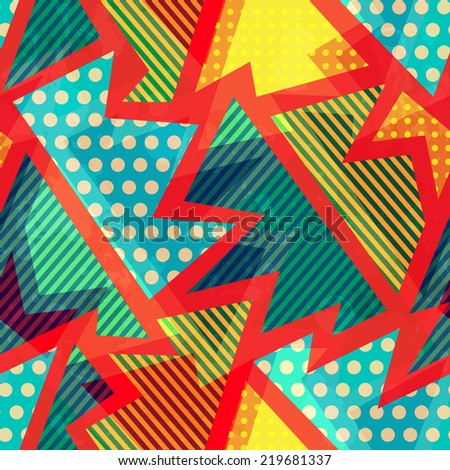 cloth bright seamless pattern - stock vector