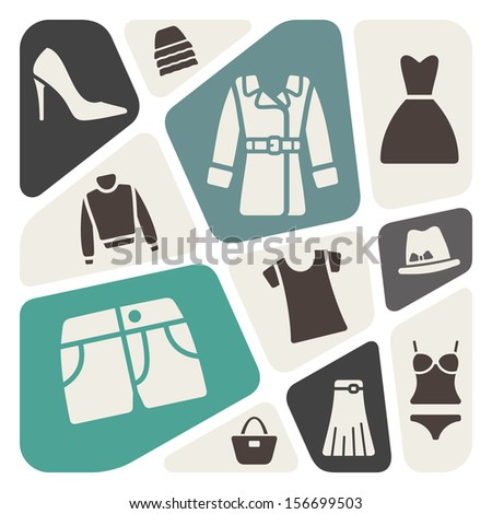 Clothes background - stock vector