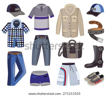 clothes collection (vector illustration) - stock vector