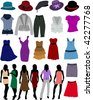 clothes for women - stock vector