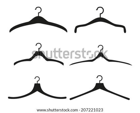 Clothes Hangers - stock vector