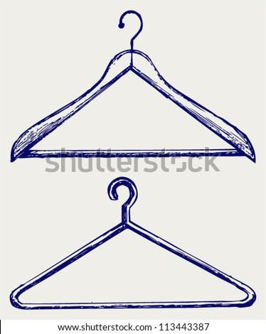 Cloth hanger Stock Photos, Illustrations, and Vector Art