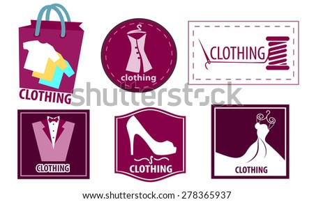 Clothing fashion icon set - stock vector