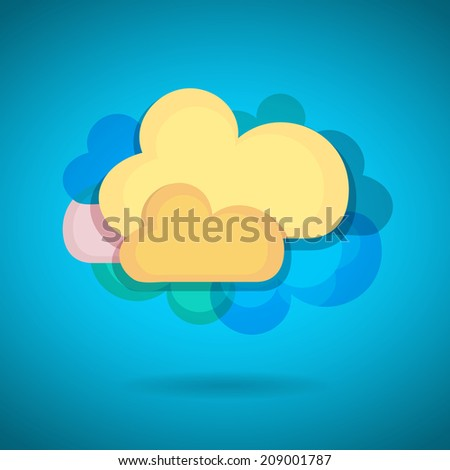 Cloud - stock vector