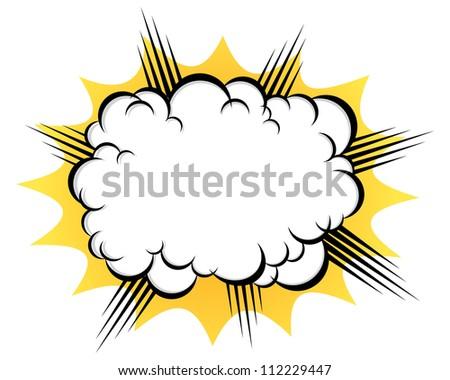 cloud after the explosion - stock vector