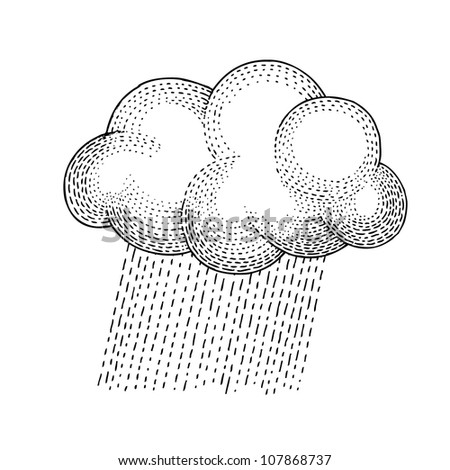 Cloud and Rain - stock vector
