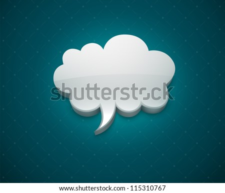 Cloud bubble icon for message vector illustration EPS10. - stock vector