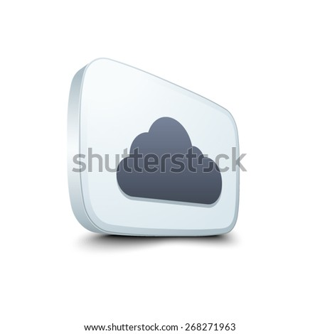 Cloud button - stock vector