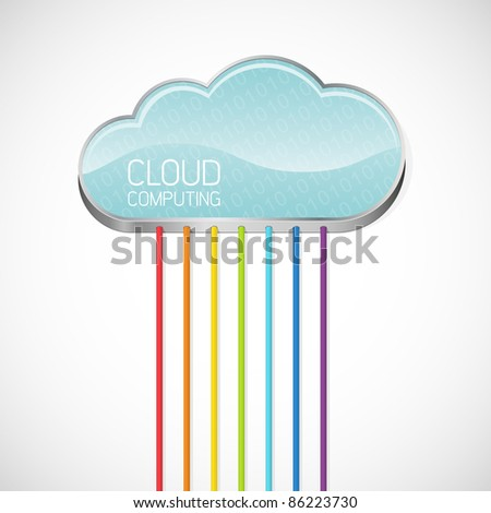 Cloud computing. Abstract vector illustration. - stock vector
