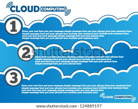 CLOUD COMPUTING BACKGROUND - stock vector