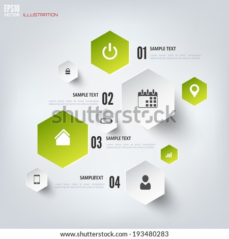 Cloud computing background with web icons. Social network. Mobile app. Infographic elements. - stock vector
