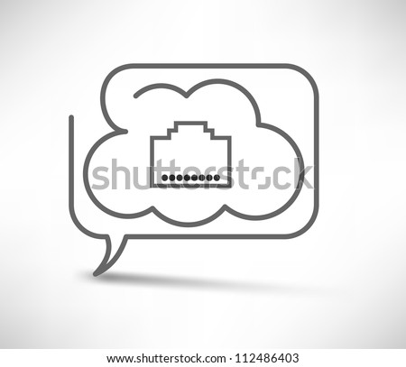 Cloud computing concept - stock vector