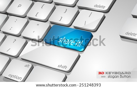 Cloud computing Concept 3D real look keybord to use for advertising and presentations, promotions or technology related brochures. - stock vector