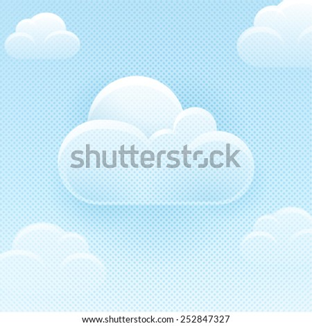 Cloud computing concept.Vector background. EPS 10 file. - stock vector