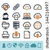 Cloud computing icons set - stock vector