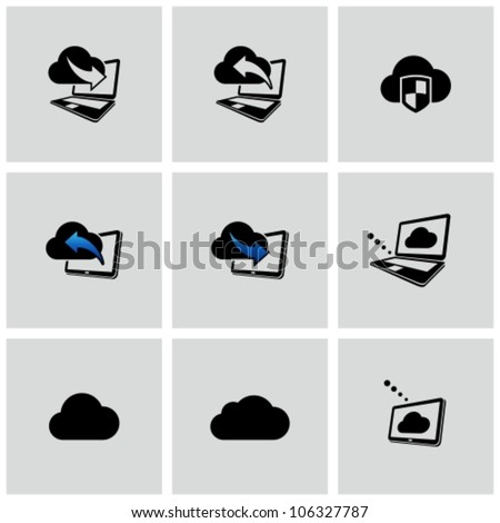 Cloud computing icons set. - stock vector