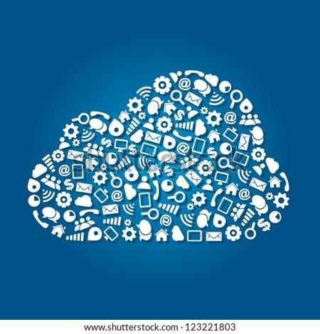 Cloud Computing Service Concept - stock vector