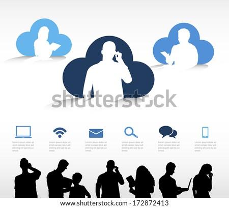 Cloud Computing Vector - stock vector