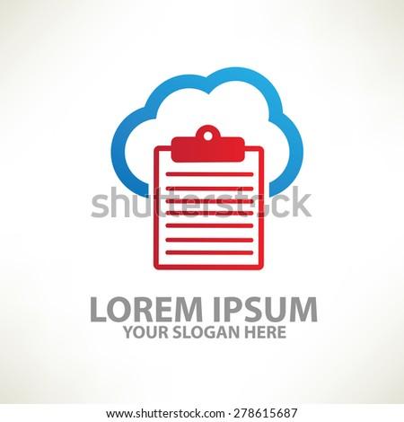 Cloud data design,logo template,colour concept design,clean vector - stock vector